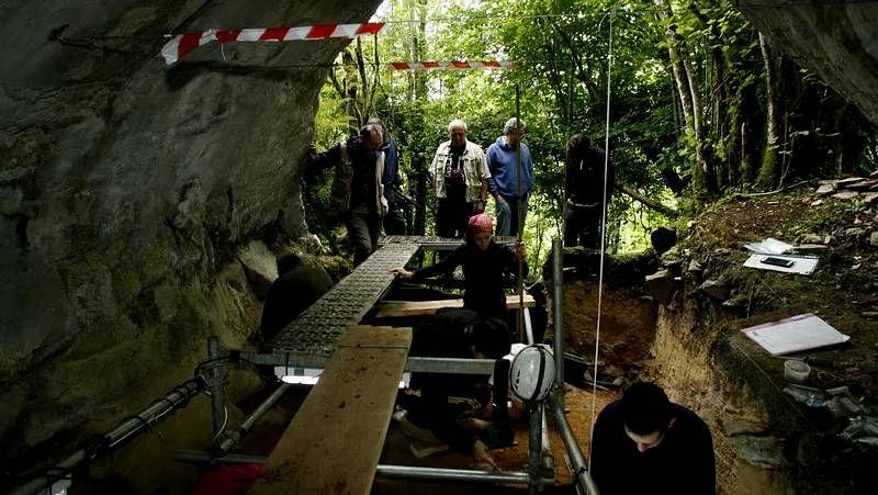 Una muestra de industria lítica neandertal de Cova Eirós.