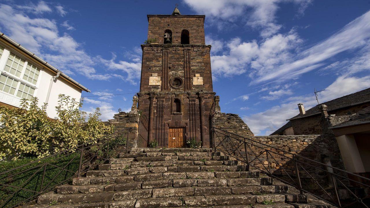 Ruinas del monasterio de San Clodio de Ribas de Sil.La iglesia de Montefurado, construida con la singular «pedra cabaleira» ?una roca típica del valle del Sil? es uno de los lugares que se visitarán dentro de las actividades del Geolodía