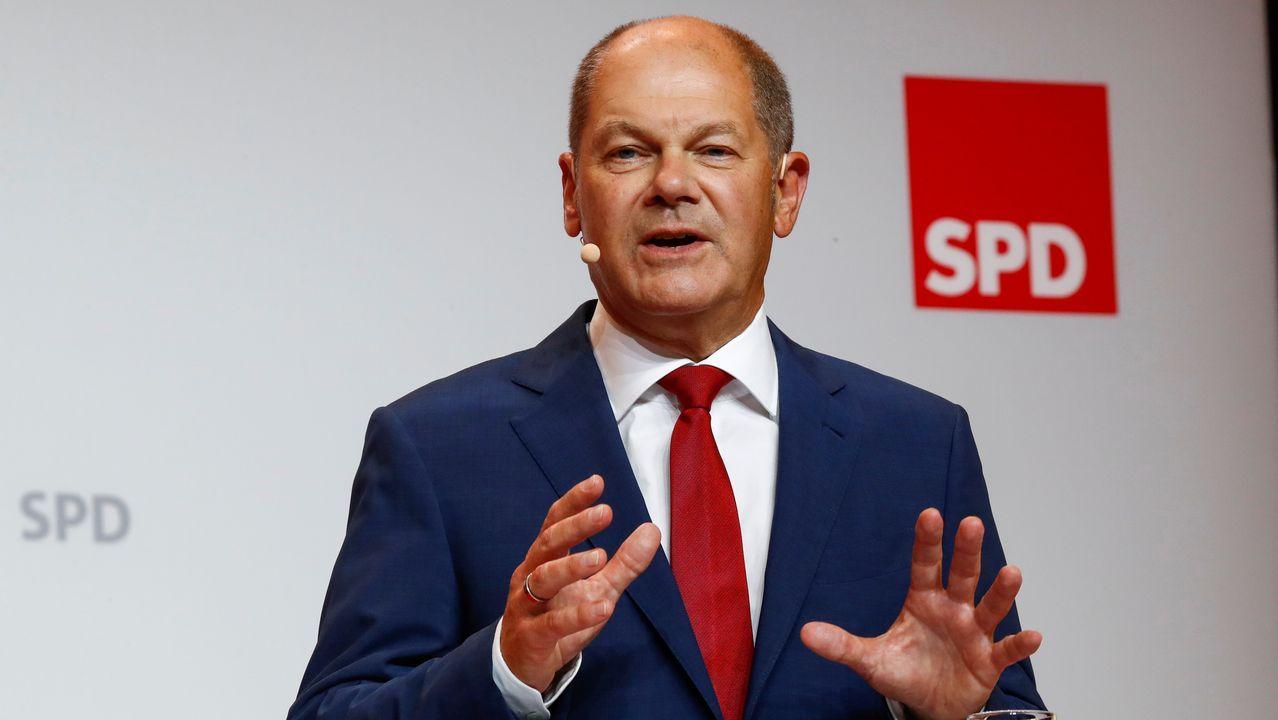 El aspirante socialdemócrata a la Cancillería alemana, Olaf Scholz