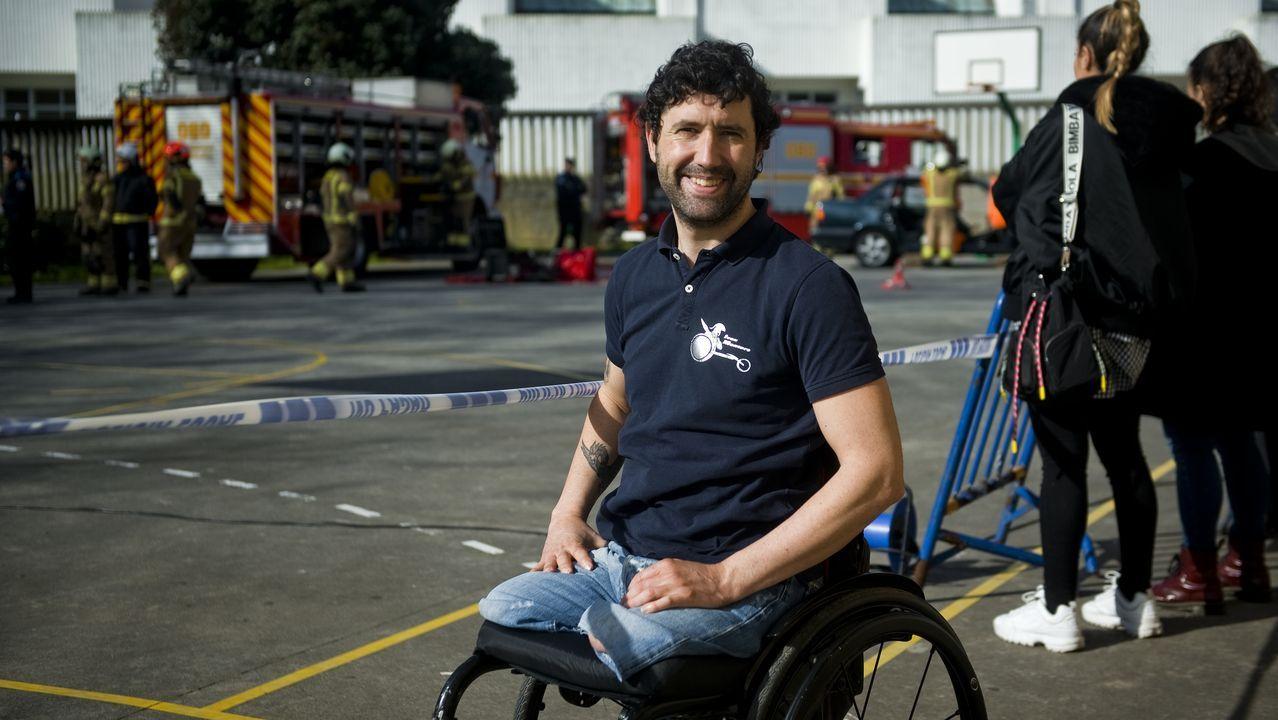 Iván Montero sufrió un accidente en bicicleta hace seis años y se quedó en silla de ruedas.