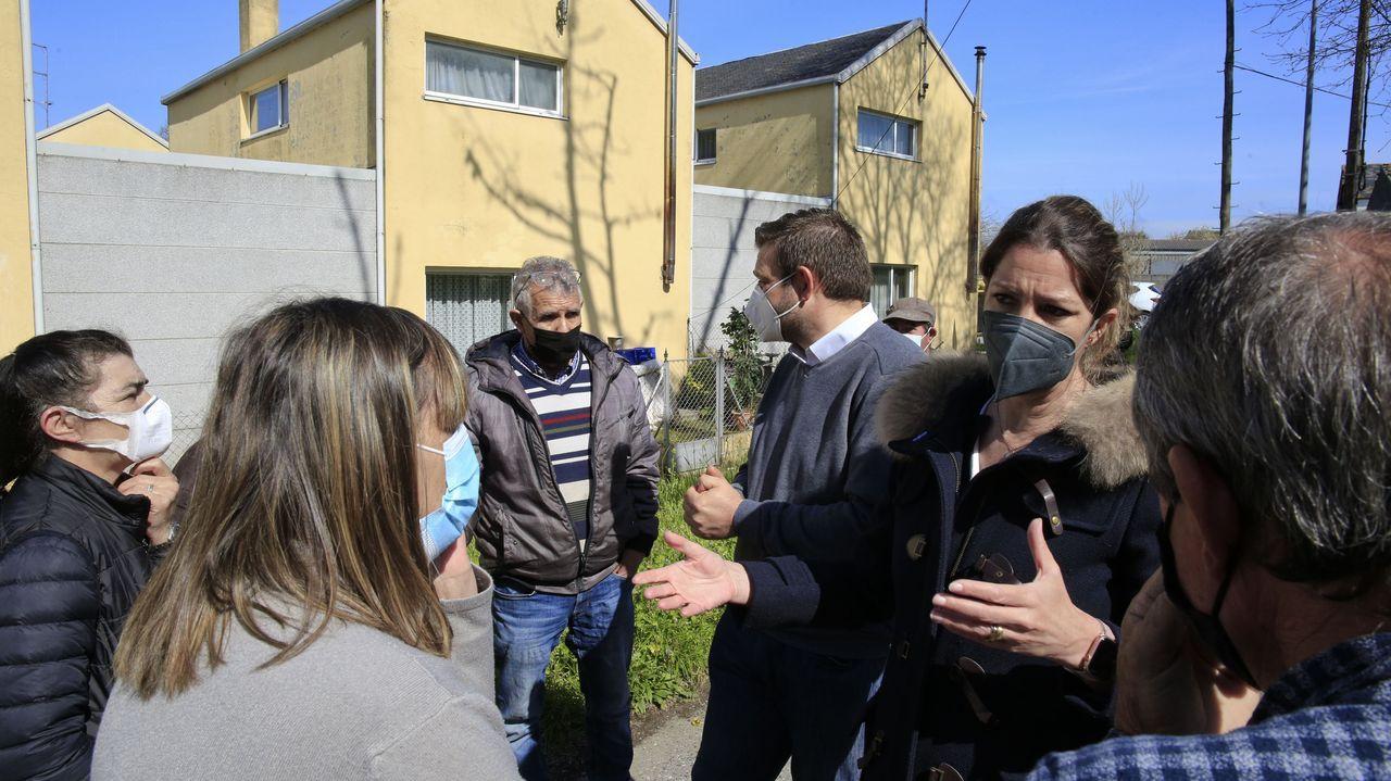 La hierba crece libre por el adarve de la Muralla.Lara Méndez y Álvaro Santos explicaron a los vecinos cómo se legalizarán las casas