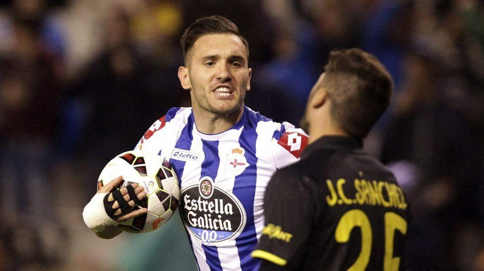 Lucas Pérez, líder espiritual del Deportivo, fue el jugador más punzante del equipo coruñés. Gol clave en Barcelona.