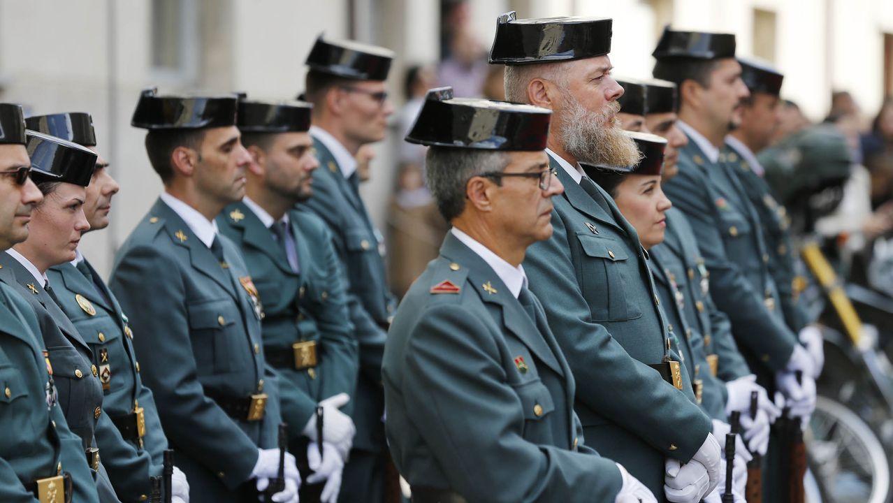 Celebración del día del Pilar en la Comandancia de la Guardia Civil en Ourense
