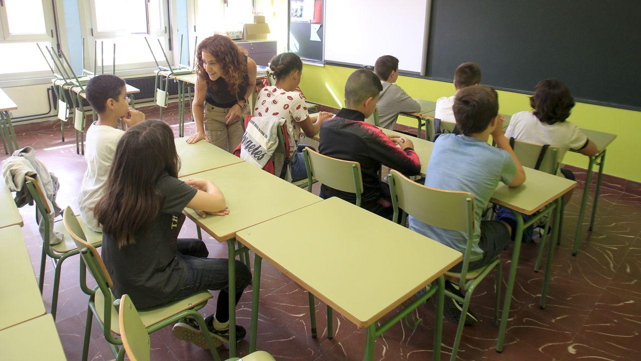 Inicio de curso polémico en el Cruceiro de Canido, donde algunos padres decidieron no escolarizar a sus hijos hasta que no se remate la limpieza del polvo de las obras que se realizaron en el centro