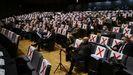 En los últimos meses, el Auditorio de Ourense ha servido de escenario para la celebración de los plenos del Concello, como en la imagen