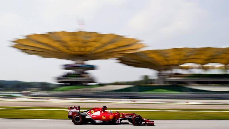 Las mejores imágenes de la carrera.Maldonado, durante el GP de España