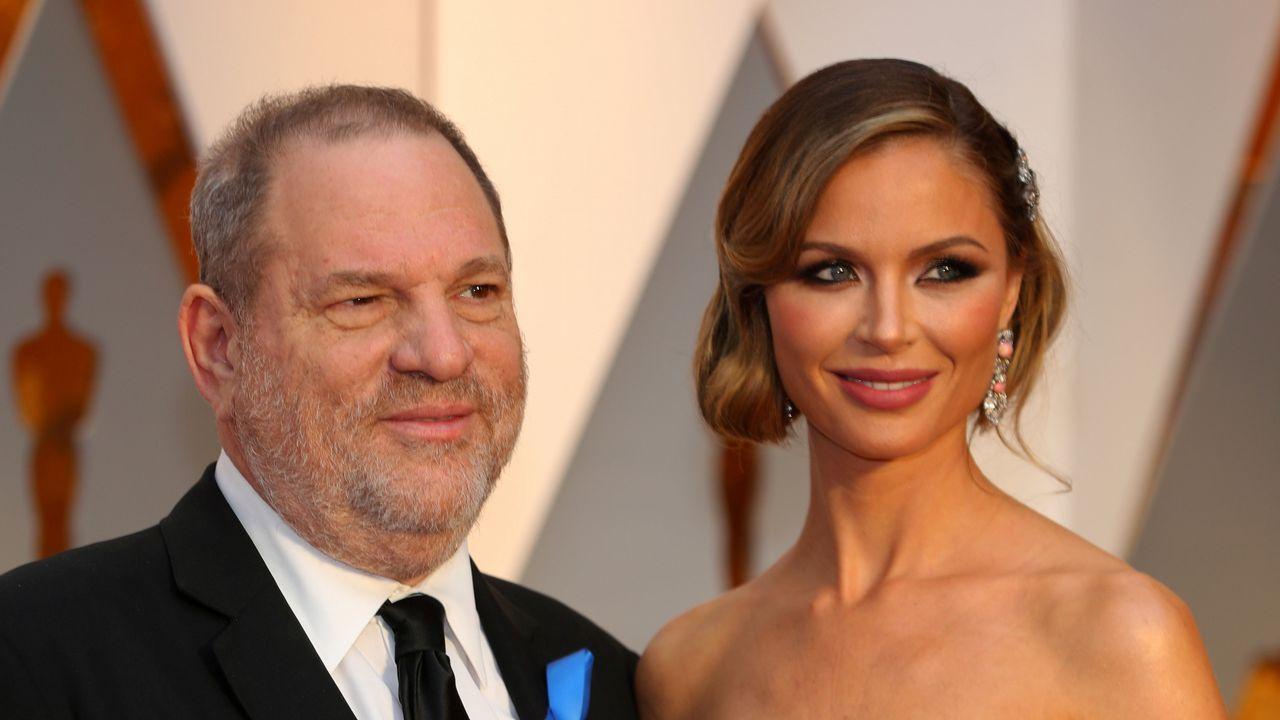 El conmovedor alegato de Asia Argento contra los abusos sexuales.Imagen de archivo del matrimonio formado por Harvey Weinstein y Georgina Chapman