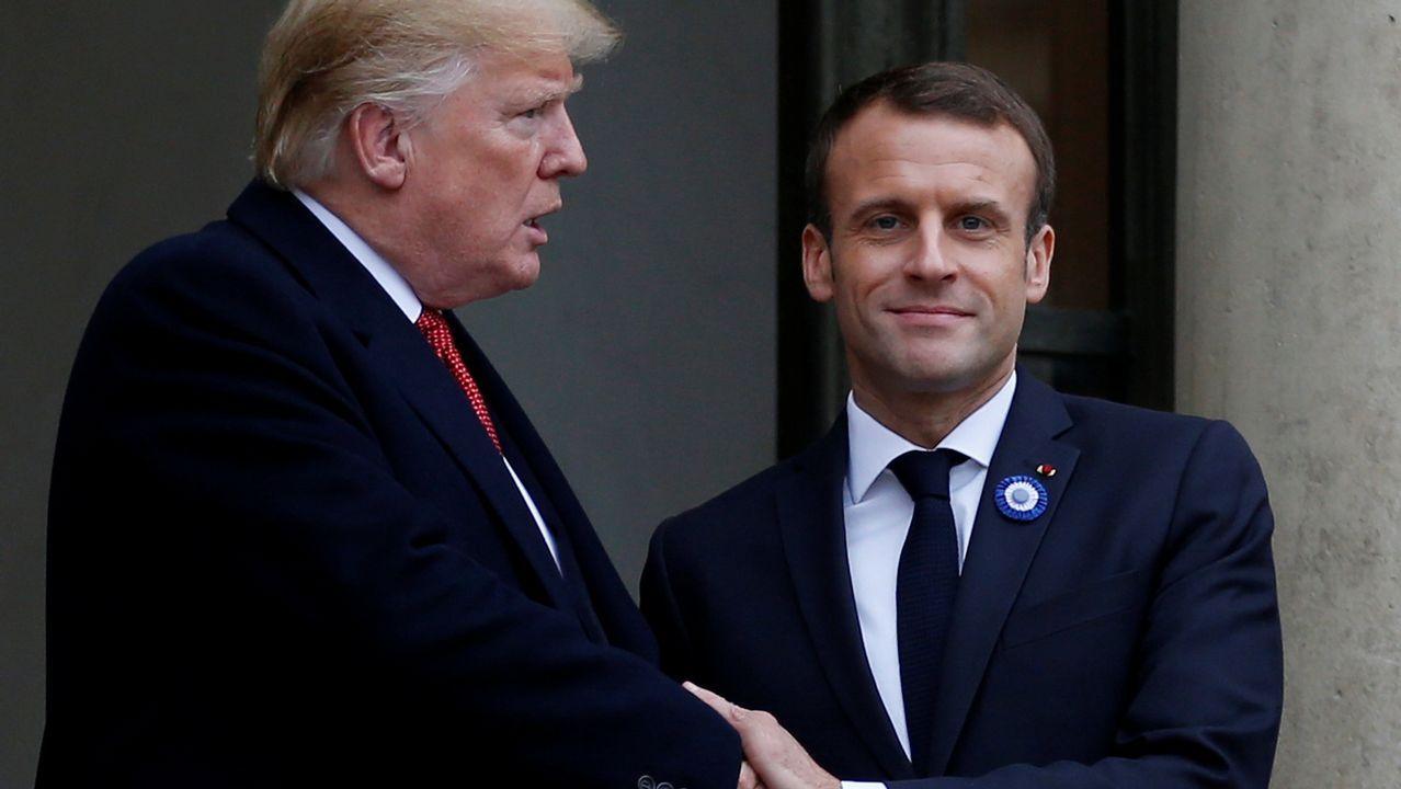 Trump arremete contra el ejército europeo propuesto por Macron: «Es insultante».Acto en recuerdo de los británicos caídos en el conflicto