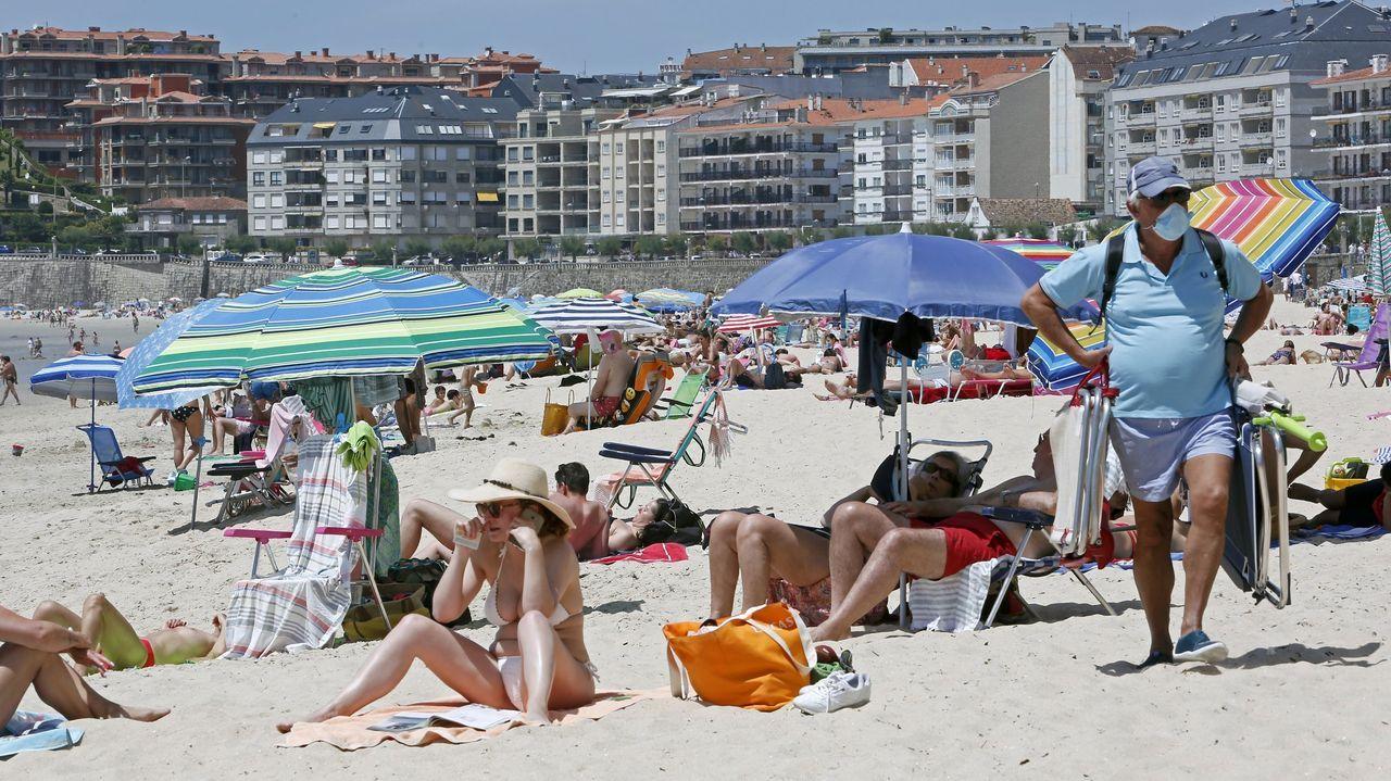 Imagen de la playa de Silgar, en el municipio de Sanxenxo