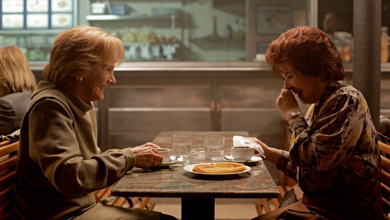 Pedro Almodóvar y Antonio Banderas, durante el rodaje del filme «Dolor y gloria»