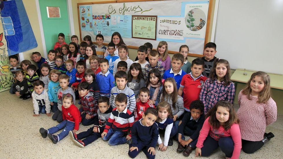 No colexio de As Somozas estudan pouco máis de medio centro de rapaces de Infantil e Primaria