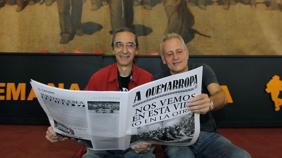 Presentación de la plantilla del Cerceda.Un detalle del cartel de César Sánchez para el Festival Internacional de Cine de Gijón