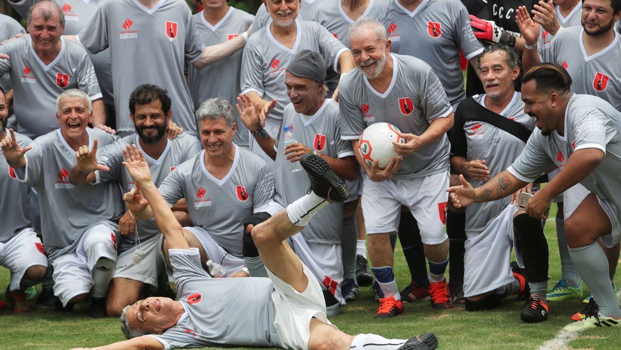 Lula da Silva, en un partido amistoso de fútbol en la escuela Florestan Fernandes en Guararema, estado de Sao Paulo, Brasil, el pasado domingo