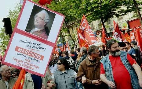 La izquierda francesa salió a la calle este fin de semana para pedir el fin de la austeridad.