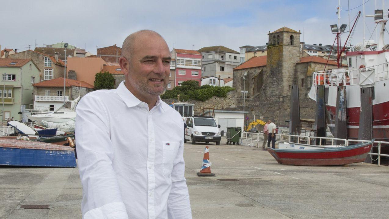 El alcalde, Ángel Mato, el presidente del Puerto, José Manuel Vilariño, y el concejal de Urbanismo, Julián Reina