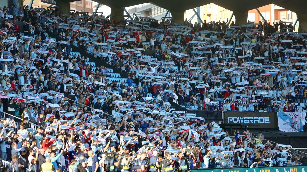 El Celta - Real Madrid, en imágenes.En el futuro no se podrá fumar en los arenales de Samil.