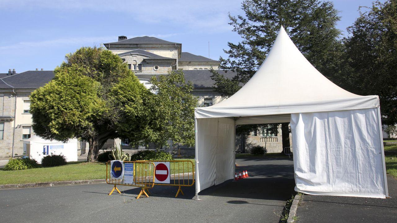 Primera jornada en las guarderías privadas y concertadas.Pruebas de coronavirus en el Novoa Santos, en Ferrol