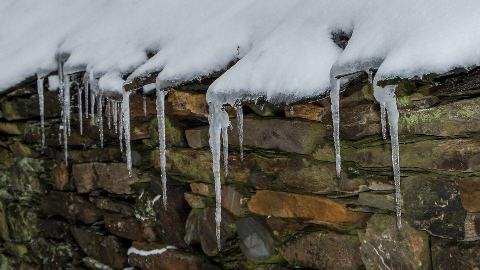 Estampas de la nevada en A Pobra do Brollón