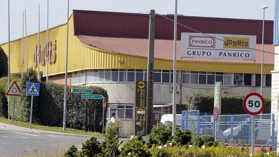 Imagen de la antigua fábrica de Panrico en el polígono del Tambre, en Santiago