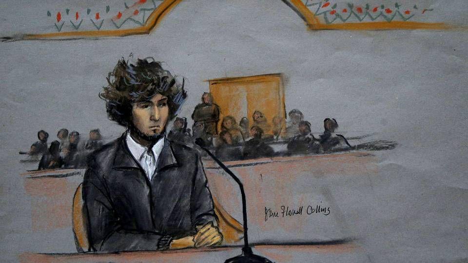 Retrato de Dzhokhar Tsarnaev, acusado del atentado