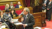 Torra, durante una intervención en el pleno del Parlamento de Cataluña