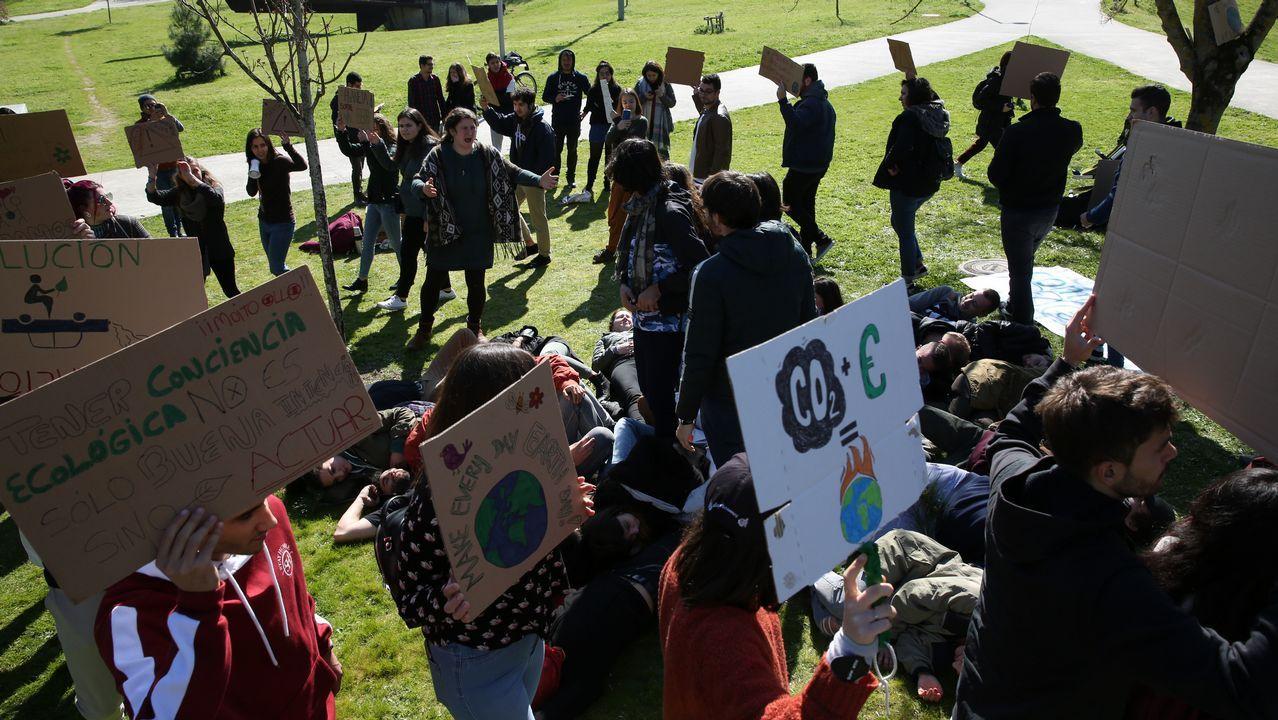 Acto en el campus contra el cambio climático.Claus Offe