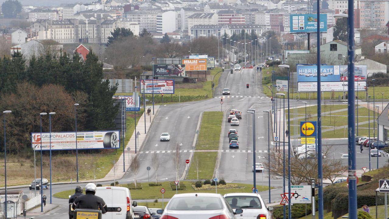 ÁLBUM: Primer lunes laboral tras el anuncio del Estado de Alarma.Al fondo el tramom de Duquesa de Lugo que será desdoblado para el tráfico y que llevará carril bici e iluminación
