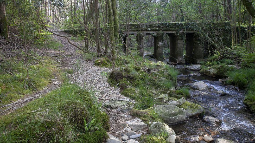 Puente de As Taras, en el río Lérez en A Pobra