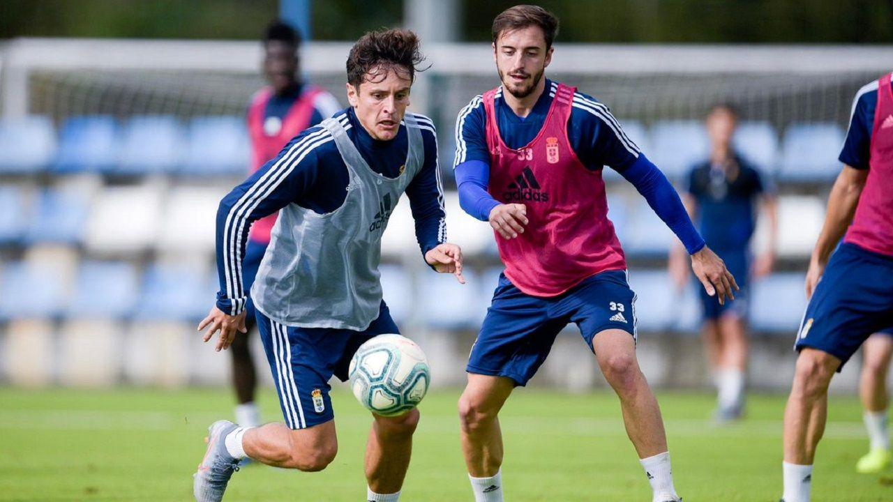 Sangalli y Josín en un entrenamiento