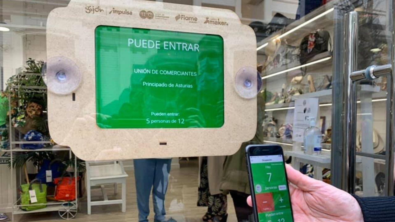 La aplicación para gestionar el aforo de clientes en los comercios de Gijón