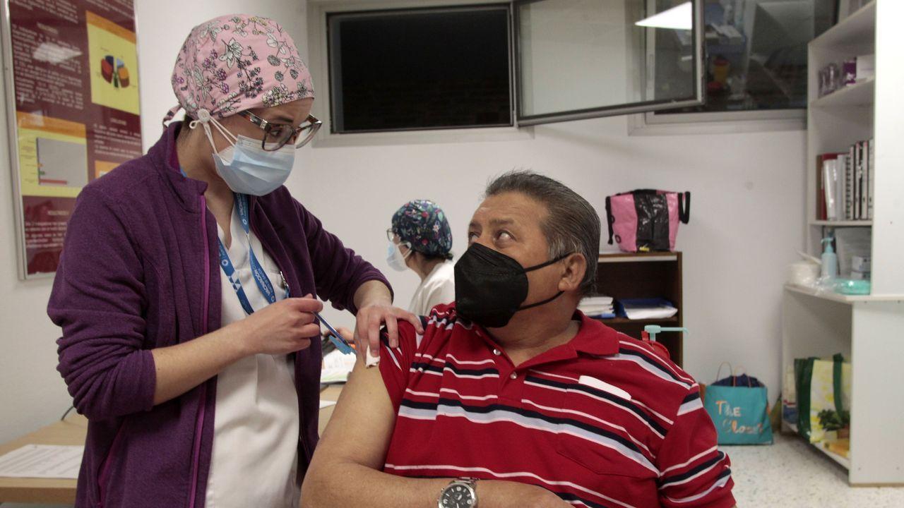 Vacunación contra el coronavirus en el hospital comarcal de Monforte