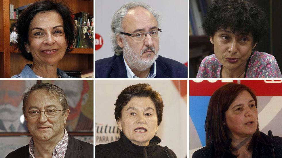 Dolores Galovart, Guillermo Meijón, Rocío de Frutos, Ricardo García Mira, Margarita Pérez y Pilar Cancela