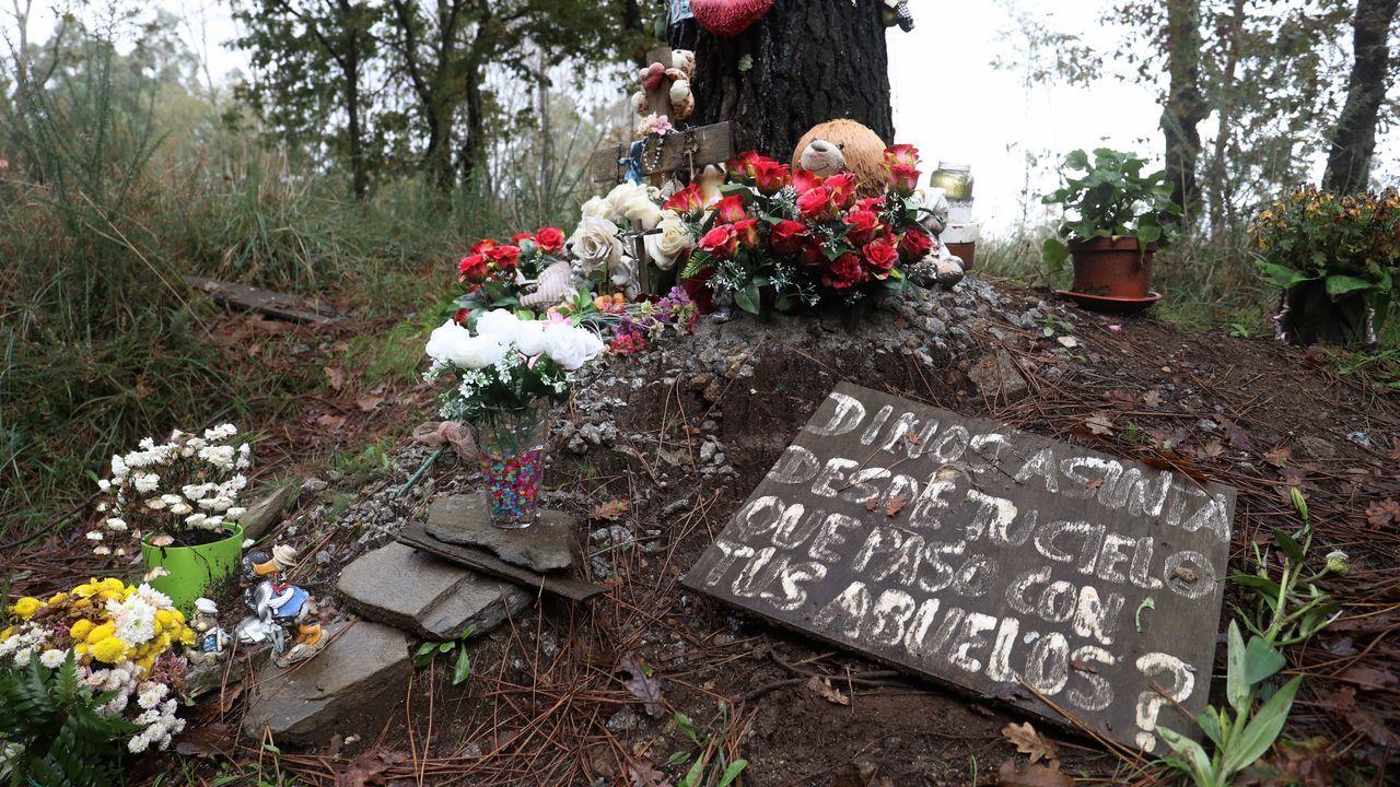 Estado actual de la pista y lugar de A Ramallosa, donde fue encontrada Asunta.Rosario Porto durante el juicio por el asesinato de su hija, en Santiago, en el 2015