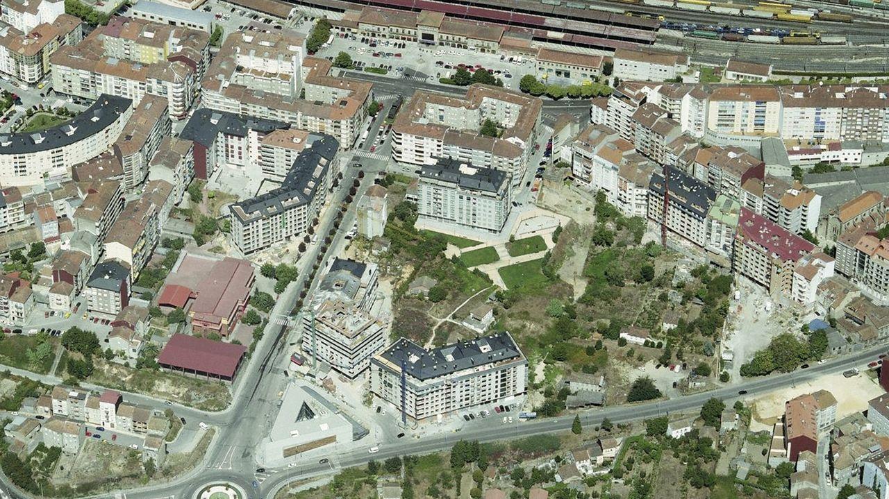 Lugar previsto para la creación del parque prometido por Gonzalo Pérez Jácome en el barrio de A Ponte