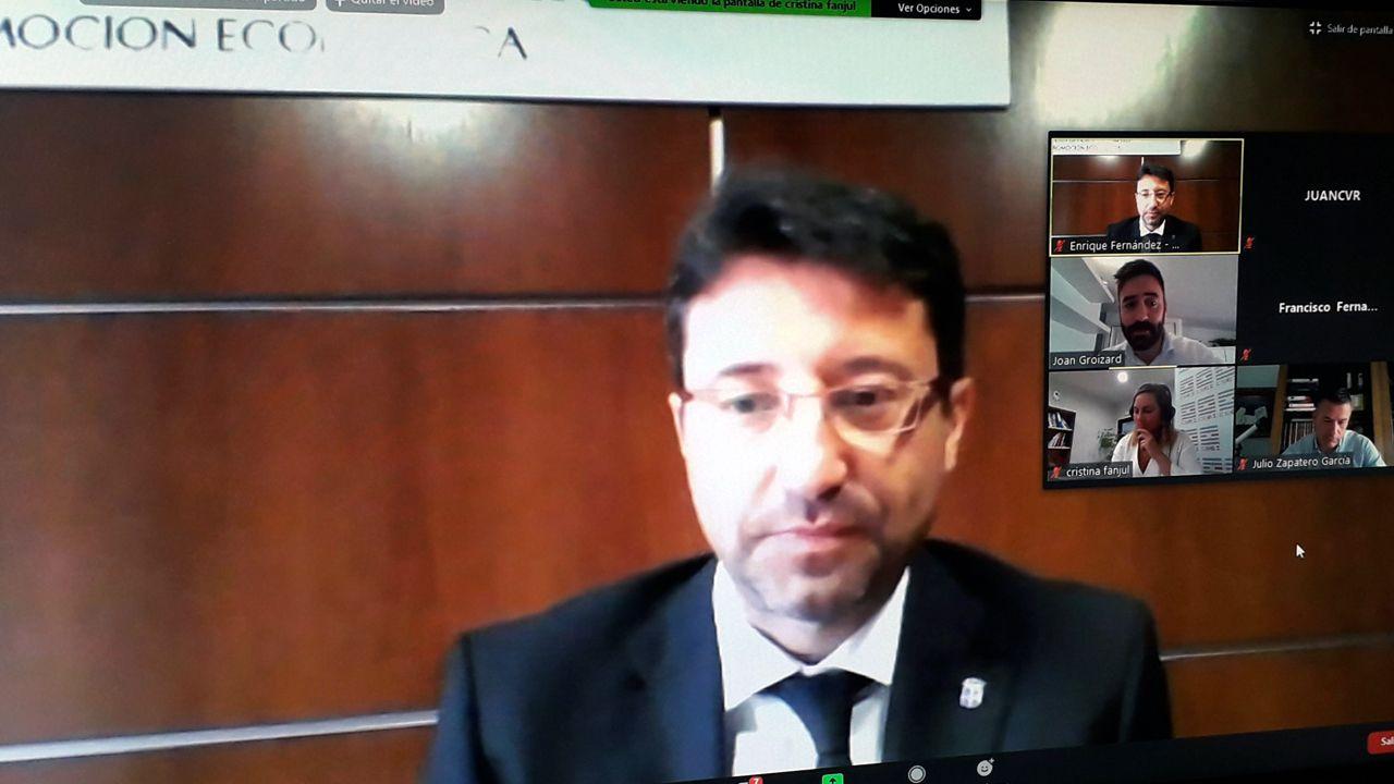El consejero de Industria, Empleo y Promoción Económica, Enrique Fernández, en la clausura del programa «Asturias Mobility Innovation Hub»