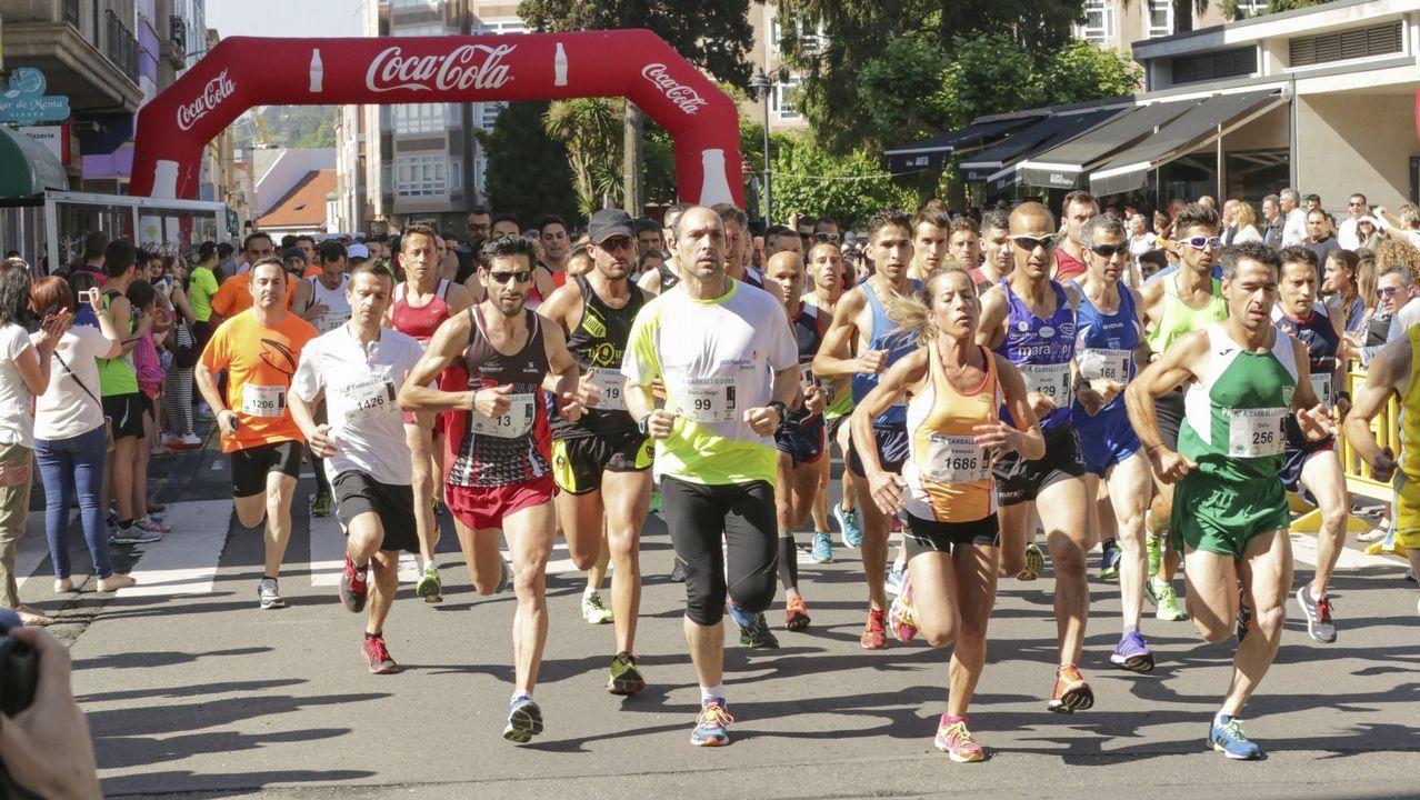 El portugués Nuno Pinto ganó el medio maratón Os 21 do Camiño.Fernando Alonso