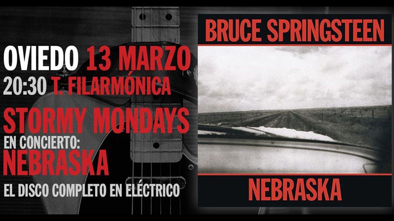 Cartel de la actuación de Stormy Mondays el próximo viernes 13, en el Filarmónica