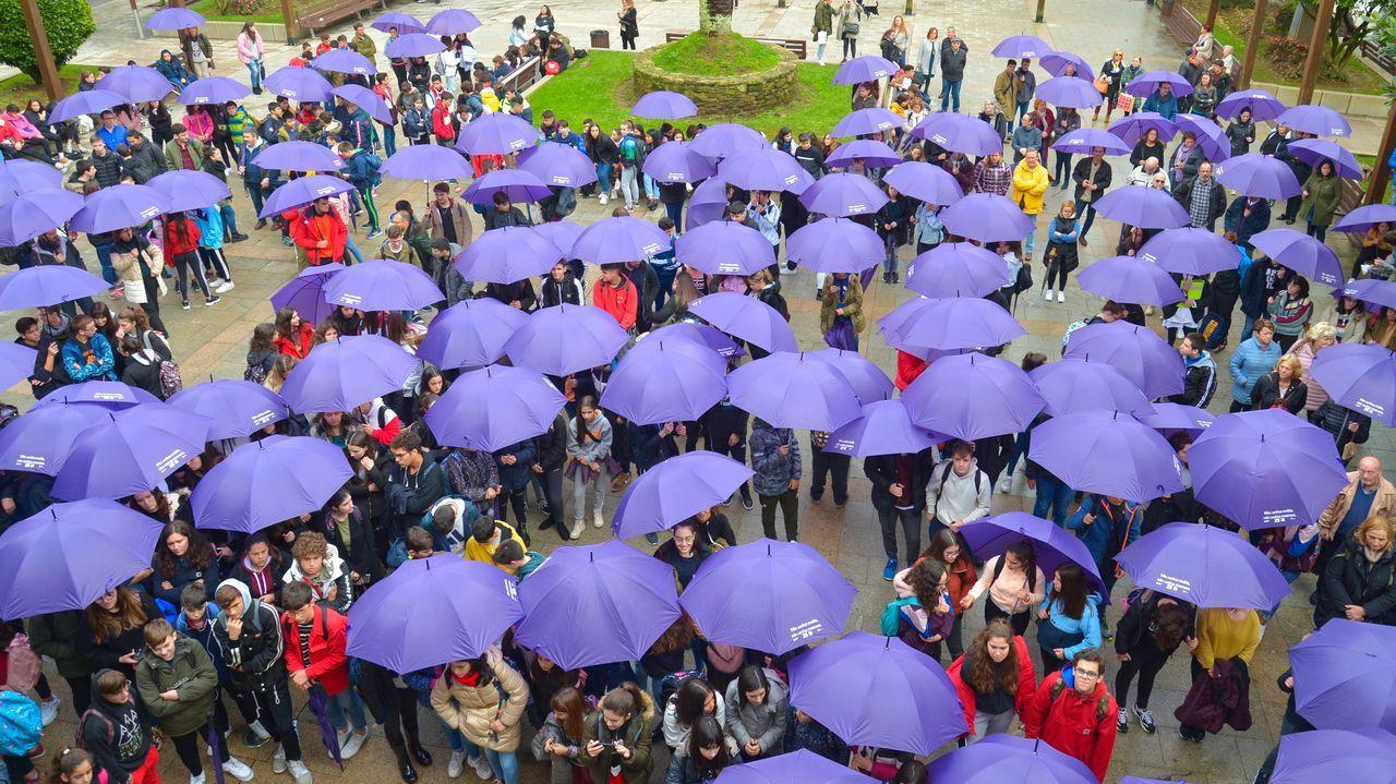 Acto contra la violencia de género en Ribeira