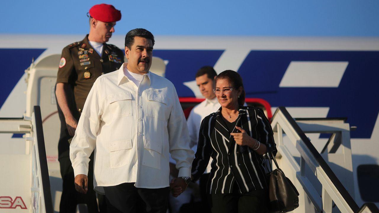 Nicolás Maduro y su mujer, Cilia Flores, tía carnal de los condenados