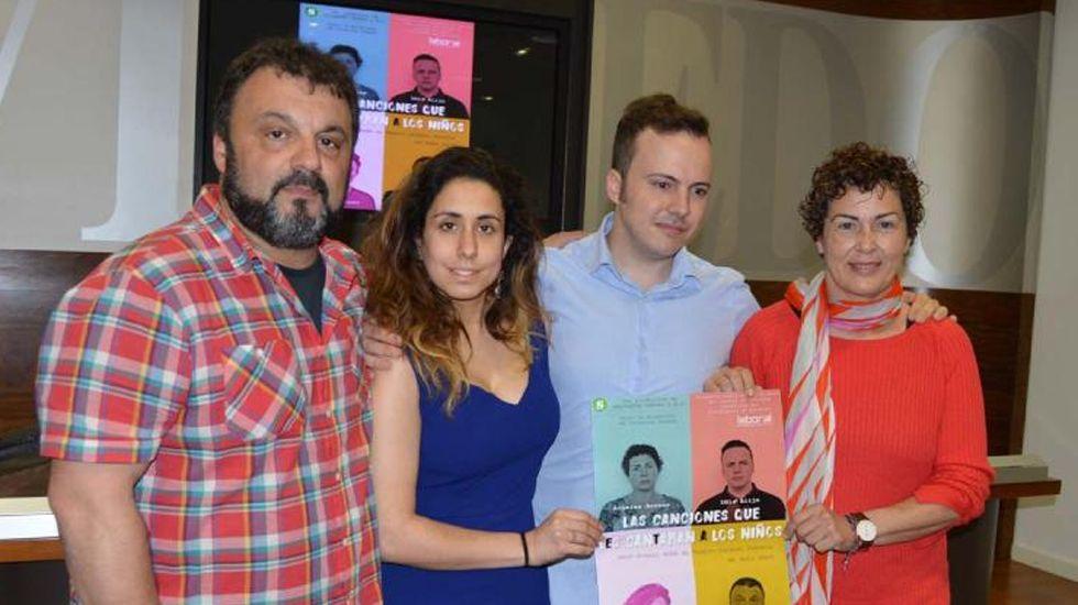 Saltantes Teatro, en la presentación de su nuevo montaje en Oviedo
