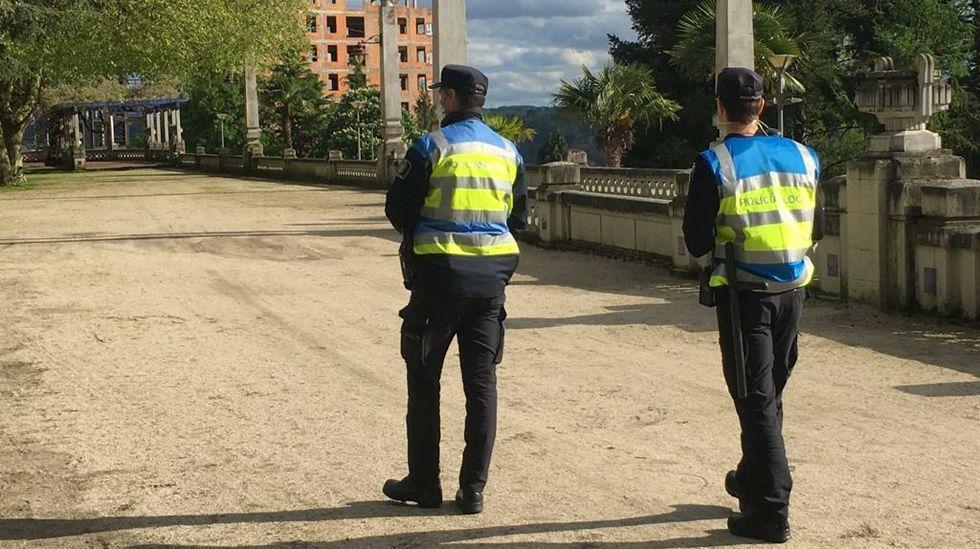 Axentes da Policía Local de Lugo