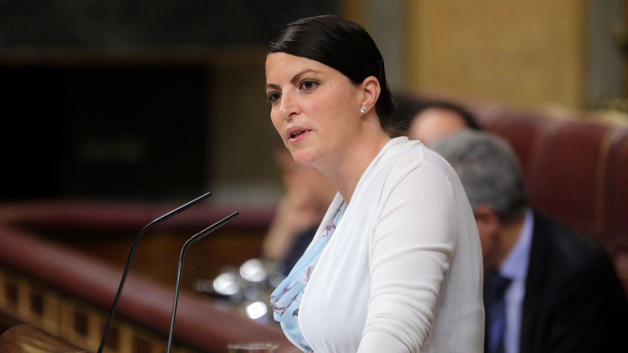 Macarena Olona, durante su intervención en el Congreso