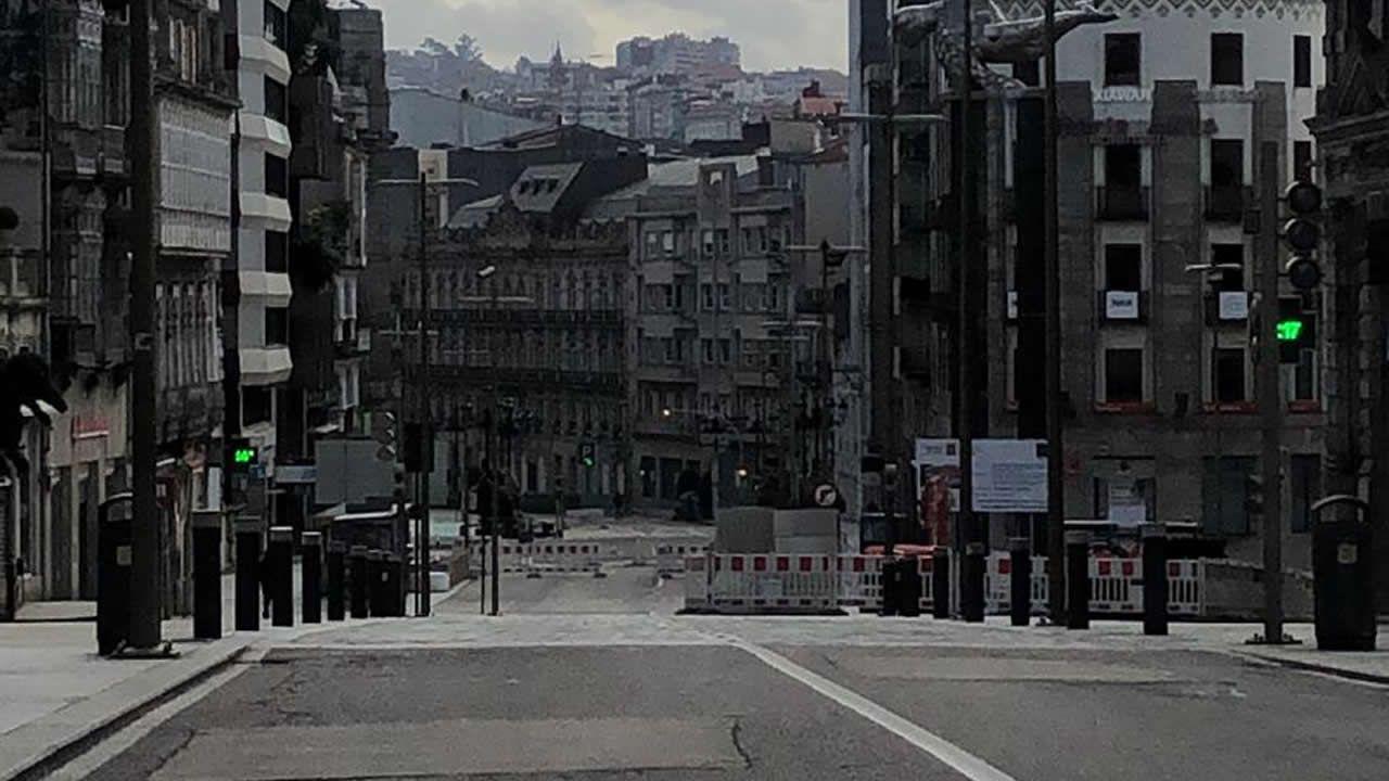 Vigo, sin gente durante este domingo