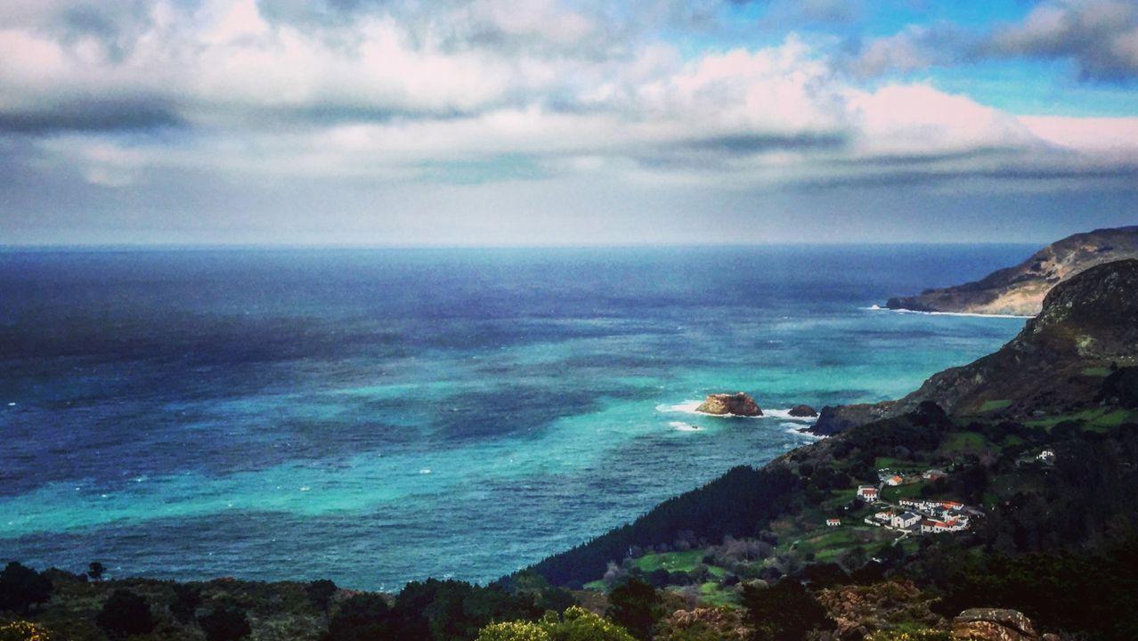 Oleaje en el entorno de Punta Candieira, en Cedeira, en una foto de archivo