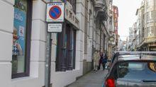 Señalización de la zona azul en una de las calles del centro de Ferrol, que lleva años sin tener vigencia