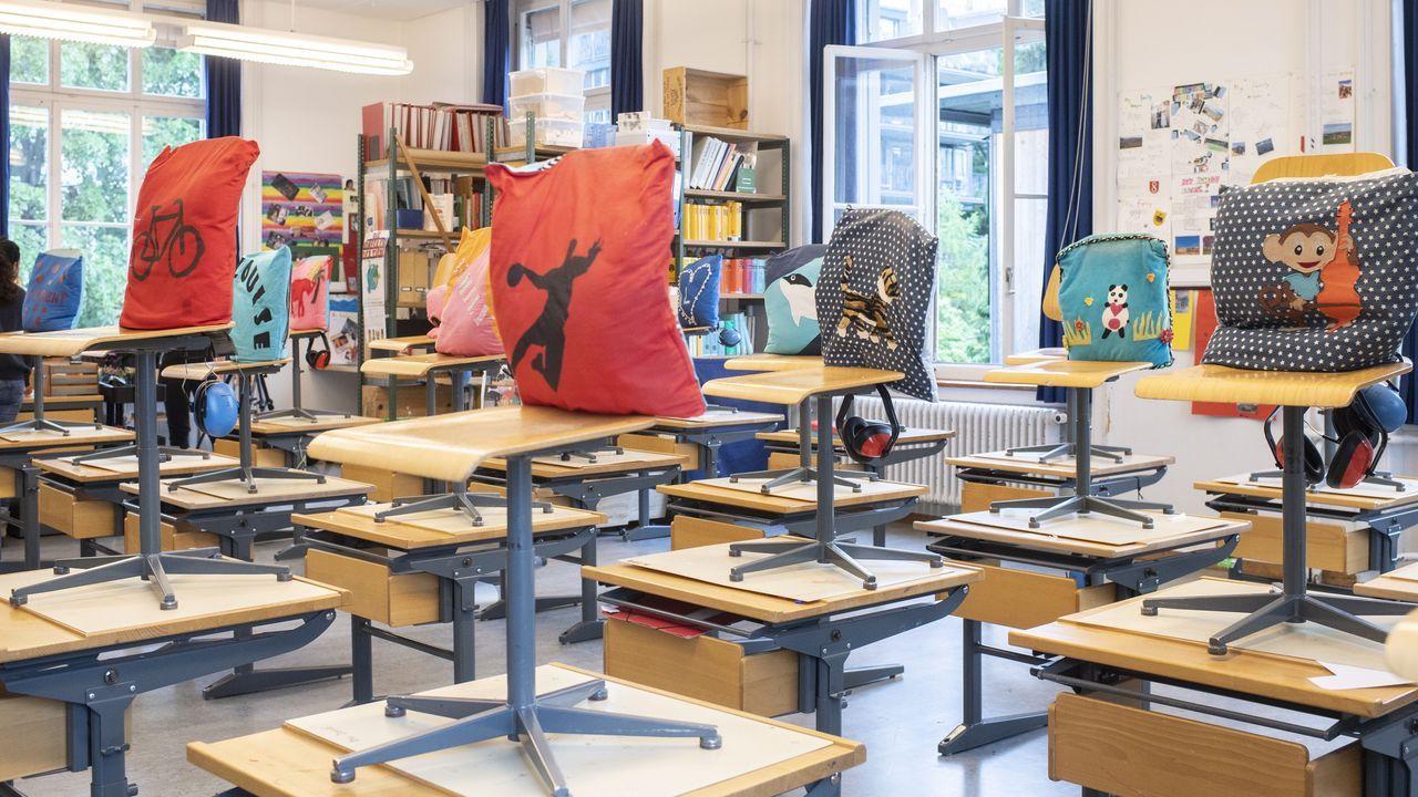 En Suiza los alumnos han regresado hoy a clase, pero manteniendo estrictas normas
