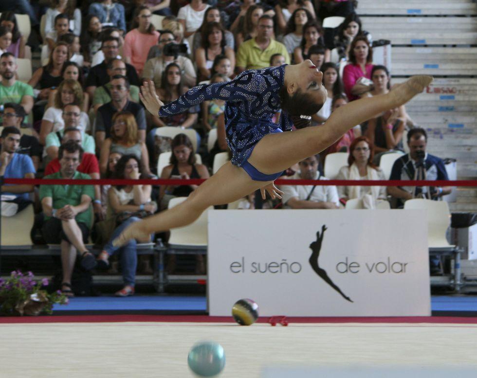 Un momento de la competición de pelota en Pontevedra.