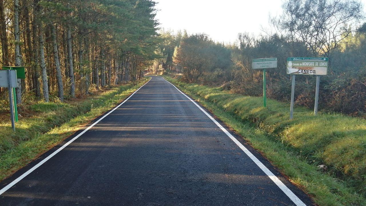 Obras de mellora na estrada provincial LU-P-3203 que une Monforte con A Pobra do Brollón e executadas por Taboada y Ramos