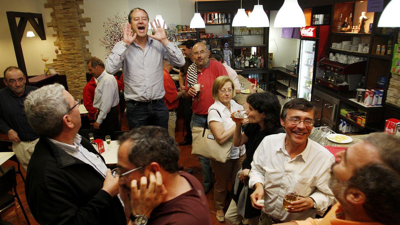 O día que gañou as eleccións a reitor da Universidade de Vigo, el 20 de mayo de 2010