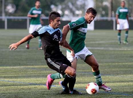 El Coruxo venció al filial celeste con goles de Yago Yao y Centrón en la primera mitad.